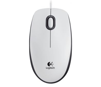 Logitech M100 Optical Mouse White
