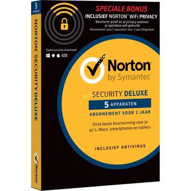 Norton Security 3.0 Deluxe (5 Apparaten / 1 Jaar)