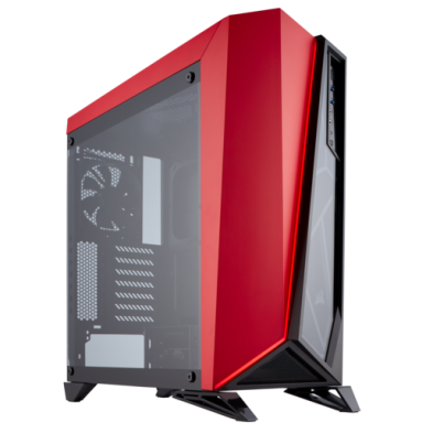 Corsair Carbide Series Spec-Omega Tempered Glass Black Red
